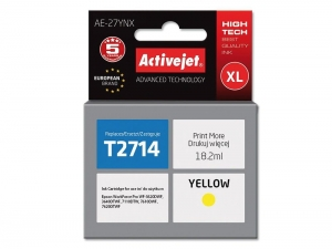 ActiveJet AE-27YNX tusz do drukarki Epson (zamiennik T2714) WorkForce WF-3620DWF WF-3640DTWF - Żółty (Yellow)