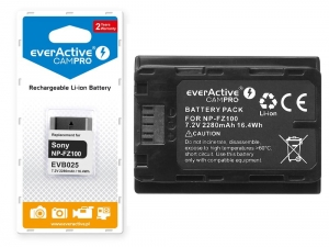 Bateria everActive EVB025 NP-FZ100 do Sony Alpha A7 III