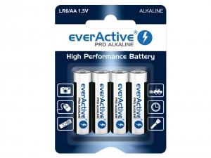 4x Baterie alkaliczne everActive Pro AA/R6