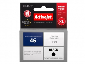ActiveJet AH-46BR tusz do drukarki HP (zamiennik nr 46XL CZ637AE) Ink Advantage 2020hc 2029 2520hc - Czarny (Black)
