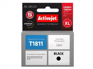 ActiveJet AE-1811N tusz do drukarki Epson (zamiennik T1811) Expression Home XP-202 XP-205 - Czarny (Black) [7236]