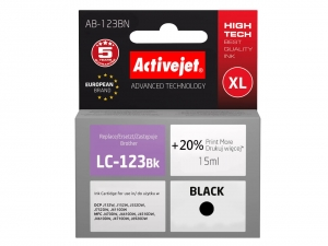 ActiveJet AB-123BN tusz do drukarki Brother (zamiennik LC123) DCP-J132W J152W j552W - Czarny (Black)