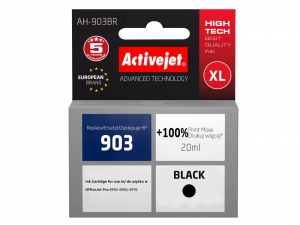 ActiveJet AH-903BR tusz do drukarki HP (zamiennik nr HP 903 T6L99AE) OfficeJet Pro 6964 6965 6966 6968 - Czarny (Black) [14000]