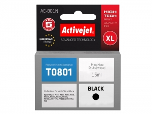 ActiveJet AE-801N tusz do drukarki Epson (zamiennik T0801) Stylus Photo R360 RX560 RX585 - Czarny (Black) [3266]