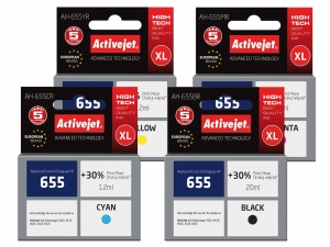 ActiveJet tusze do drukarki HP (zamiennik nr HP 655XL) DeskJet Ink Advantage 3525 - Komplet [13012]