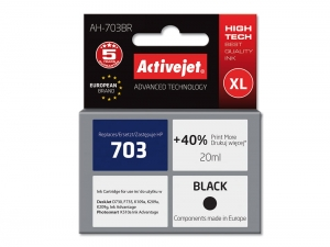 ActiveJet AH-703BR tusz do drukarki HP (zamiennik nr HP 703 CD887AE) DeskJet Ink Advantage K209a K209g - Czarny (Black) [5368]