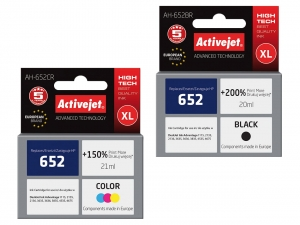ActiveJet tusze do drukarki HP (zamiennik nr HP 652) Deskjet Ink Advantage 3785 3835 - Komplet [13011]