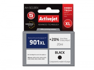 ActiveJet AH-901BRX tusz do drukarki HP (zamiennik nr HP 901XL C654AE) OfficeJet J4524 J4580 J4624 - Czarny (Black) [6479]